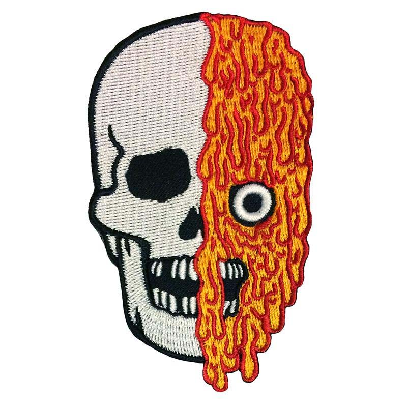 Melting Skull Embroidered Patch by Scumbags & Superstars (ep305)