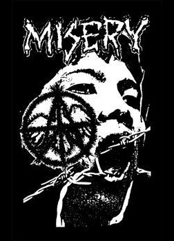 Misery- Barbed Wire Face cloth patch (cp220)