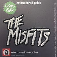 Misfits- 70's Logo ('The Misfits') Glow In The Dark embroidered patch
