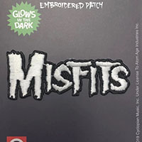 Misfits- 80's Logo ('MISFITS') Glow In The Dark embroidered patch