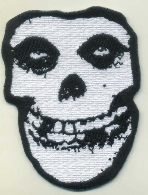 Misfits- Crimson Ghost Skull die cut embroidered patch