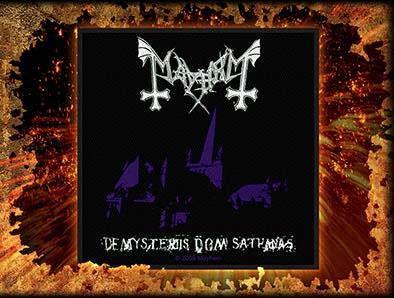 Mayhem- De Mysteriis Dom Sathanas Woven Patch (ep615)