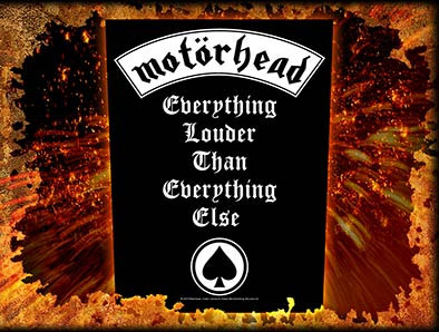 Motorhead- Everything Louder Than Everything Else Sewn Edge Back Patch (bp24)