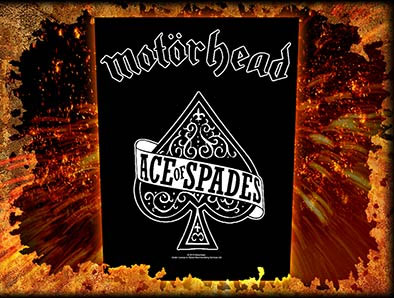 Motorhead- Ace Of Spades Sewn Edge Back Patch (bp25)