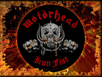 Motorhead- Iron Fist Sewn Edge Back Patch (bp9)