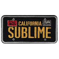Sublime- License Plate embroidered patch (ep101)