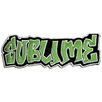 Sublime- Green Logo embroidered patch (ep102)