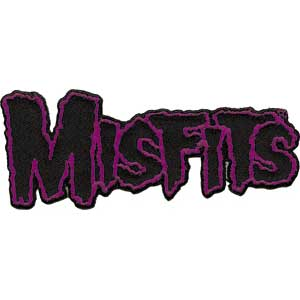 Misfits- Logo (Black/Purple) embroidered patch (ep400)