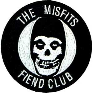 Misfits- Fiend Club embroidered patch (ep402)