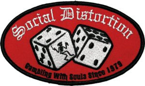 Social Distortion- Dice embroidered patch (ep303)