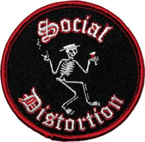 Social Distortion- Skelly embroidered patch (ep304)