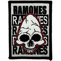 Ramones- Pinhead Skull embroidered patch (ep262)