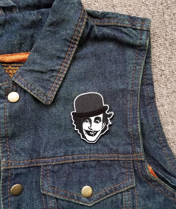Adicts- Face Die Cut embroidered patch