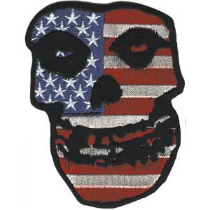 Misfits- US Skull embroidered patch (ep408)