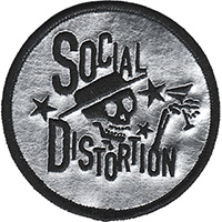Social Distortion- Skelly Chrome embroidered patch (ep56)