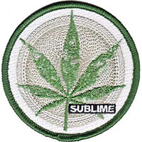 Sublime- Leaf embroidered patch (ep126)