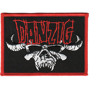 Danzig- Logo & Skull embroidered patch (ep390)
