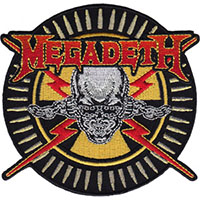 Megadeth- Skull & Bullets embroidered patch (ep31)