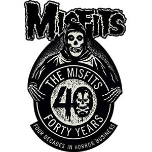 Misfits- 40 Years embroidered patch (ep412)
