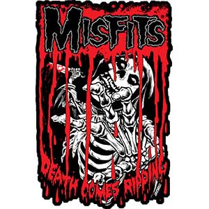 Misfits- Death Comes Ripping embroidered patch (ep420)