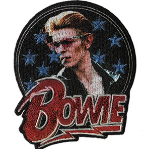 David Bowie- Stars Glitter Pic embroidered patch (ep302)