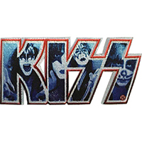 Kiss- Logo With Faces embroidered patch (ep250)