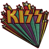 Kiss- Logo With Stars embroidered patch (ep252)