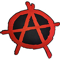 Anarchy embroidered back patch