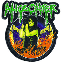 Alice Cooper- In Flames embroidered patch (ep981)
