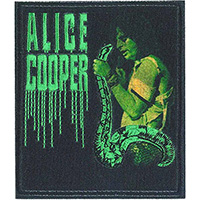 Alice Cooper- Snake embroidered patch (ep982)