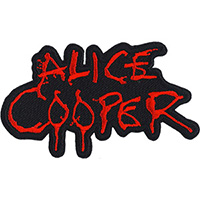 Alice Cooper- Red Logo embroidered patch (ep986)