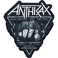 Anthrax- Soldiers Of Metal embroidered patch (ep999)
