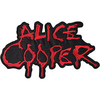 Alice Cooper- Logo embroidered back patch