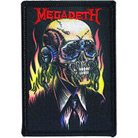 Megadeth- Flames embroidered patch (ep596)