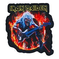 Iron Maiden- Flames And Eddie Embroidered Patch (ep99)