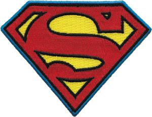 DC Comics- Superman Symbol embroidered patch (ep694)