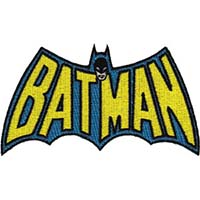 DC Comics- Batman Logo embroidered patch (ep185)