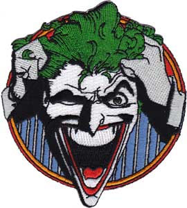 DC Comics- Joker Laughing embroidered patch (ep698)