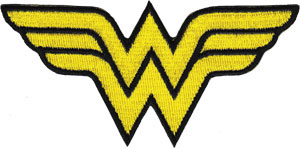 DC Comics- Wonder Woman Symbol embroidered patch (ep700)