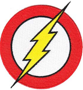 DC Comics- Flash Symbol embroidered patch (ep701)