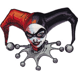 DC Comics- Harley Quinn Headshot embroidered patch (ep703)
