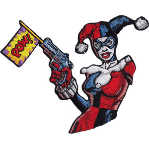DC Comics- Harley Quinn Pow embroidered patch (ep704)