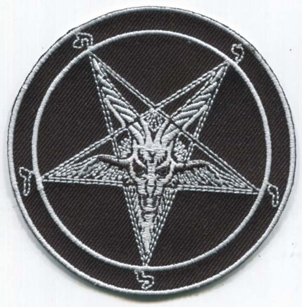Baphomet Pentagram Embroidered Patch