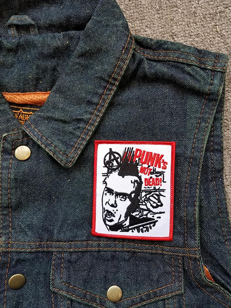 Punk's Not Dead (Wattie) Embroidered Patch