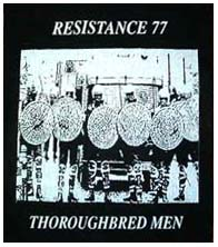 Resistance 77- Thoroughbred Men back patch (bp208) (Sale price!)