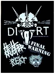 Dirt- Show Flyer back patch (bp99) (Sale price!)