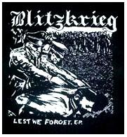 Blitzkrieg- Lest We Forget back patch (bp40) (Sale price!)