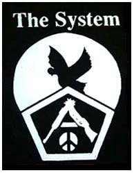 System, The- Bird, Gun, and Peace back patch (bp229) (Sale price!)