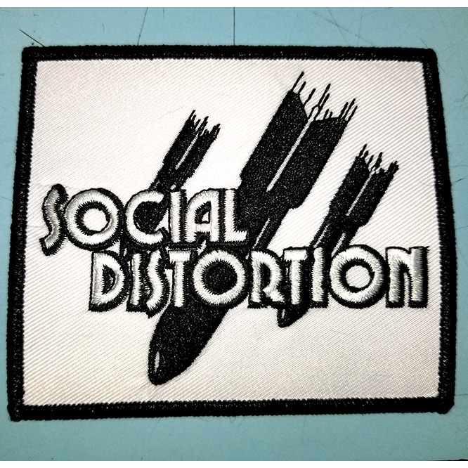 Social Distortion- Bombs embroidered patch (ep459)