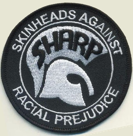 SHARP (Skinheads Against Racial Prejudice) embroidered patch.